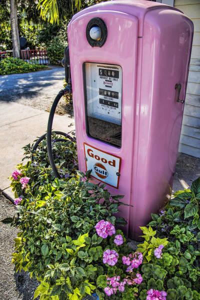 Boca Grande Photograph - Pink Gasoline Pump - Boca Grande Florida by Jon Berghoff