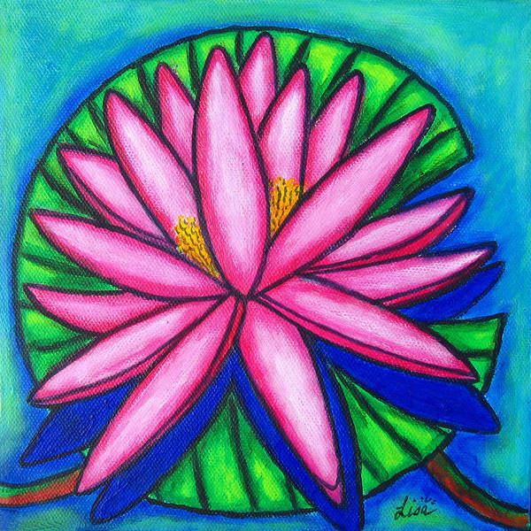 Painting - Pink Gem 2 by Lisa  Lorenz