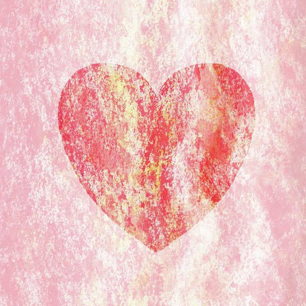 Painting - Pink Heart Watercolor Silhouette by Irina Sztukowski