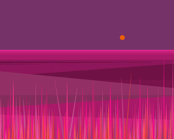 Digital Art - Pink Hills by Val Arie