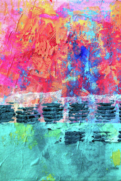 Acrylic Paints Painting - Pink Horizon by Nancy Merkle