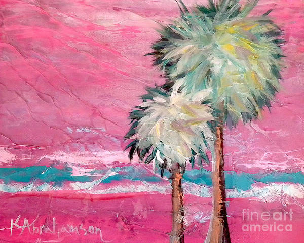Pink Horizon Palms Art Print