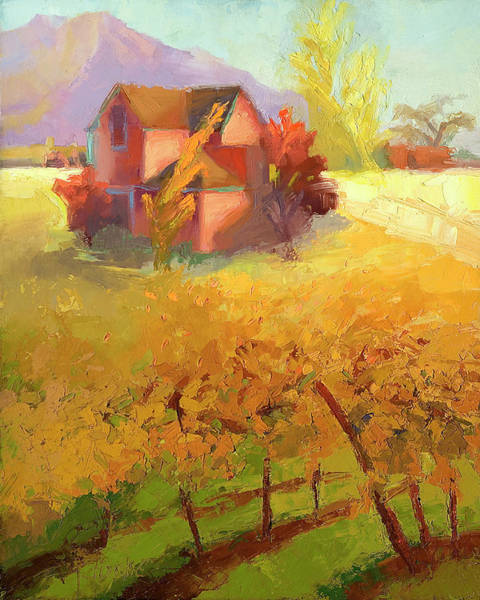 Pink House Yellow Art Print by Cathy Locke