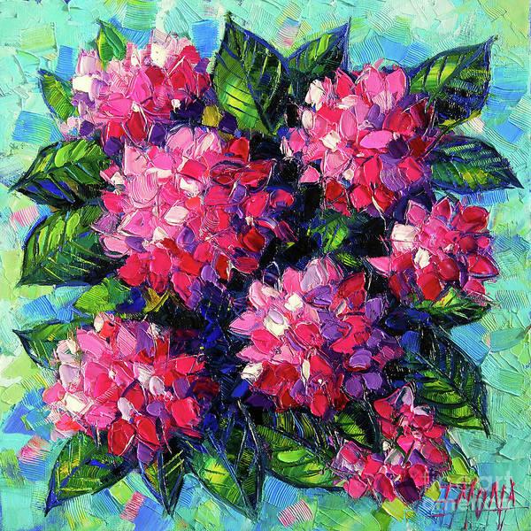 Wall Art - Painting - Pink Hydrangeas by Mona Edulesco