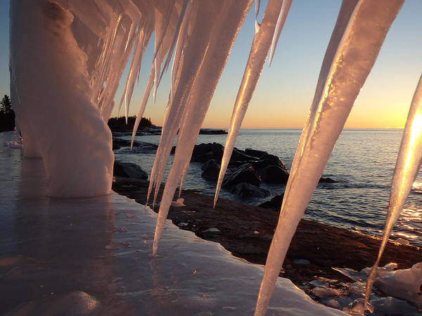 Photograph - Pink Icicle Sunrise by James Peterson