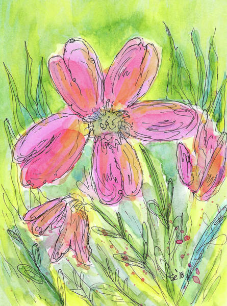 Painting - Pink In The Garden by Susan Campbell