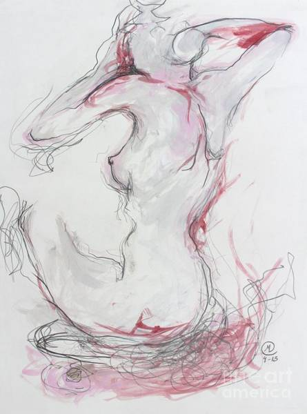 Drawing - Pink Lady by Marat Essex