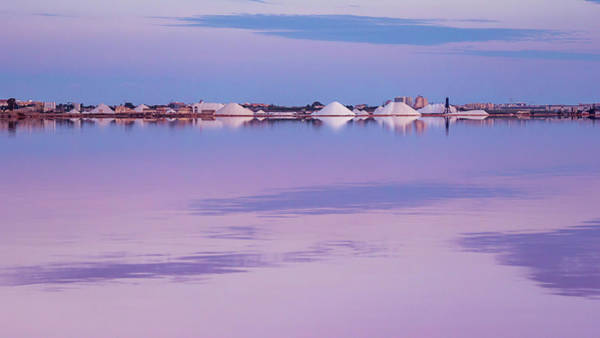 Wall Art - Photograph - Pink Lake At Blue Hour by Mike Walker