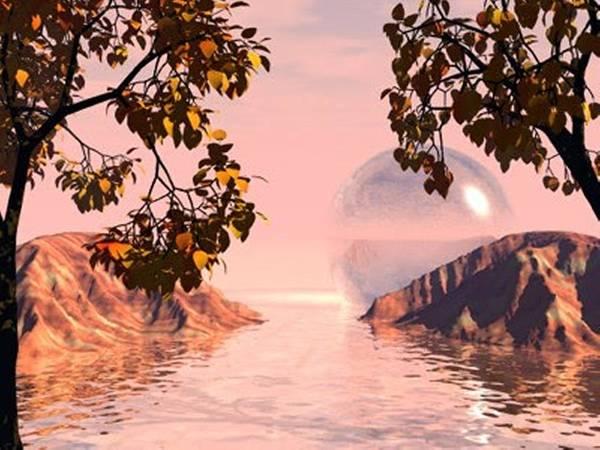 Digital Art - Pink Lake by Darren Cannell