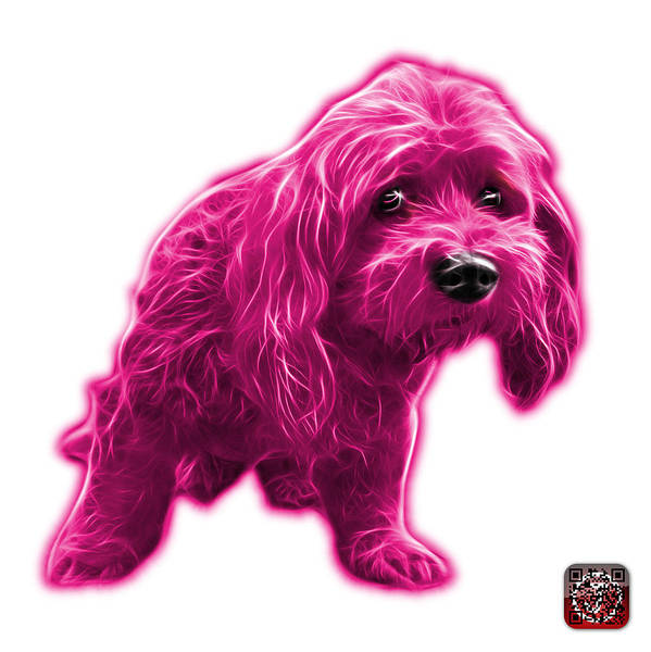 Painting - Pink Lhasa Apso Pop Art - 5331 - Wb by James Ahn