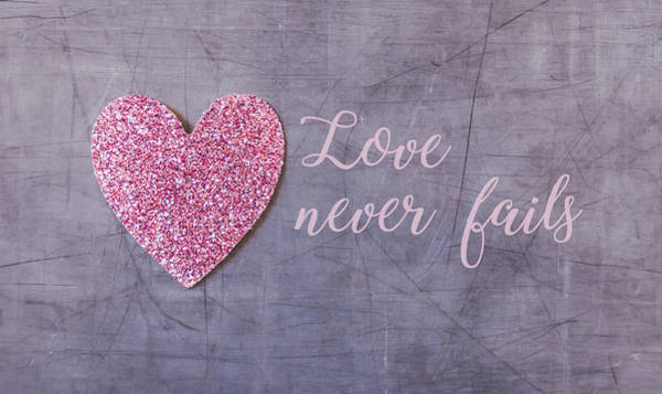 Photograph - Pink Love Never Fails by Andrea Anderegg