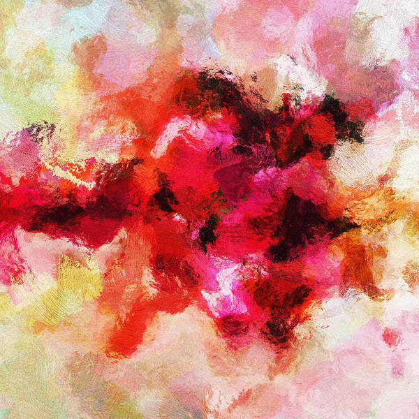 Painting - Pink Minimalist Abstract Painting by Inspirowl Design