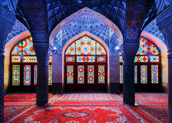 Photograph - Pink Mosque, Iran by Alexandre Rotenberg