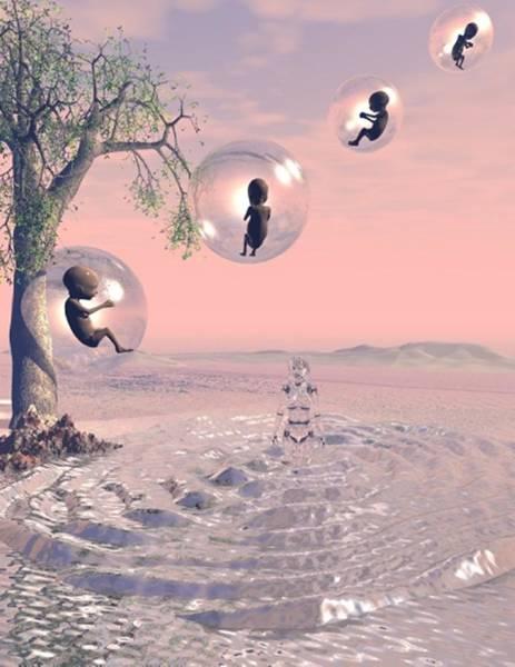 Digital Art - Pink Mother Render by Darren Cannell