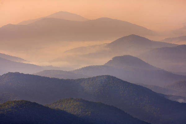 Photograph - Pink Mountain Layers by Ken Barrett