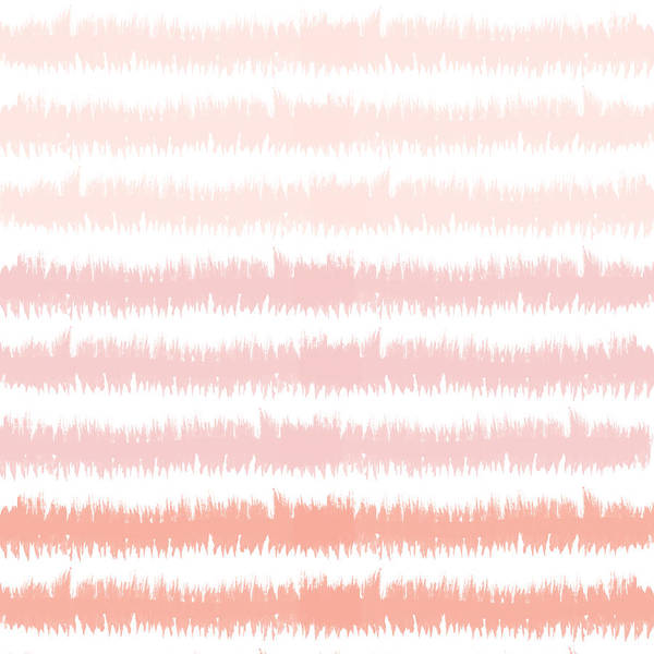 Mixed Media - Pink Ombre Ikat Stripe- Art By Linda Woods by Linda Woods