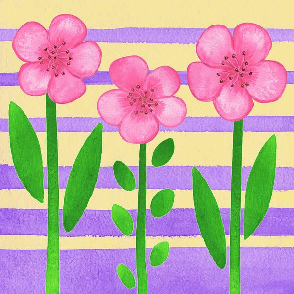 Painting - Pink On Purple by Irina Sztukowski