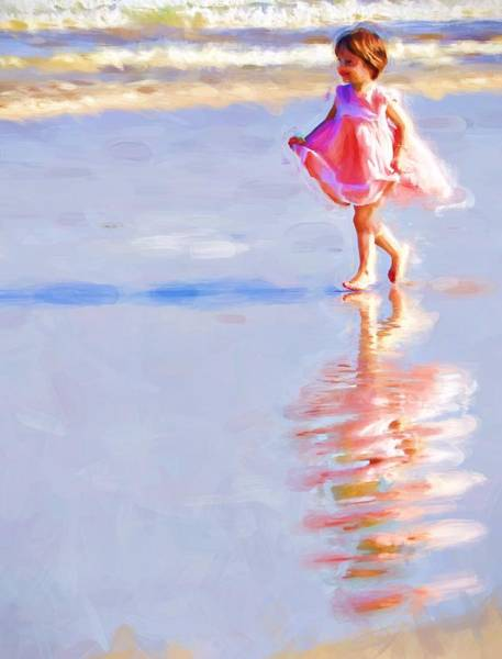 Photograph - Pink On The Beach by Alice Gipson