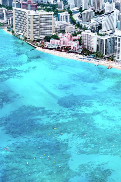 Wall Art - Photograph - Pink Palace - Waikiki by Sean Davey
