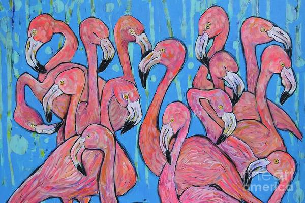 Wall Art - Painting - Pink Party by Arrin Burgand