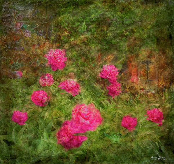 Photograph - Pink Peonies Magical Garden by Anna Louise