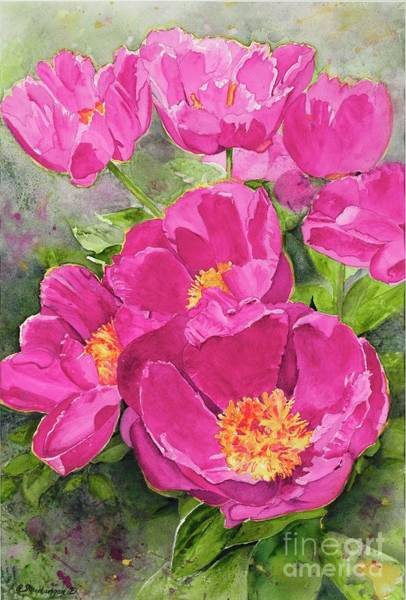 Wall Art - Painting - Pink Peonies by Patty Strubinger