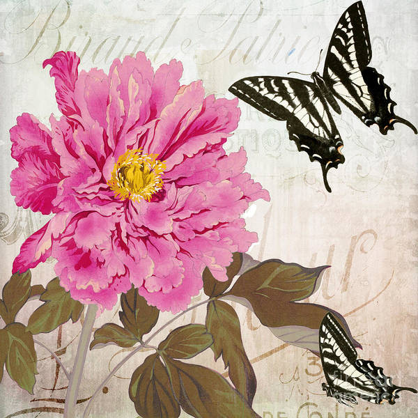 Wall Art - Painting - Pink Peony by Mindy Sommers