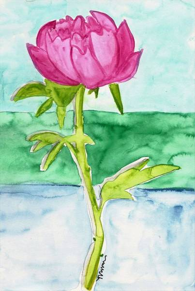 Painting - Pink Peony by Monica Martin