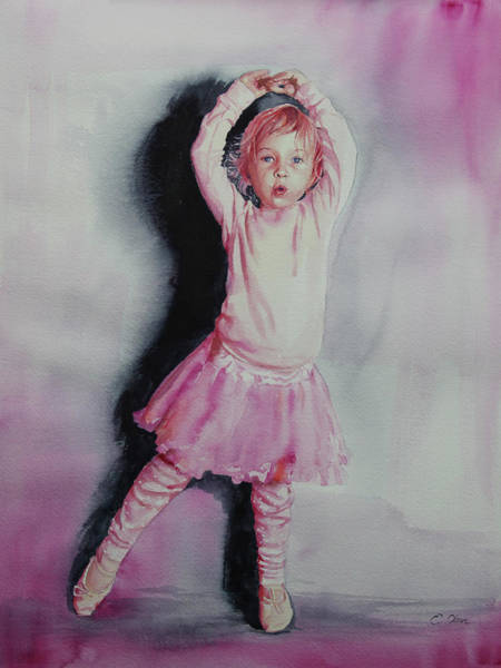 Skipping Painting - Pink Pirouette by Emily Olson
