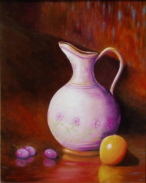 Painting - Pink Pitcher by Gene Gregory