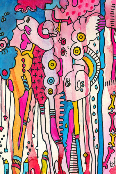 Pink Play Art Print