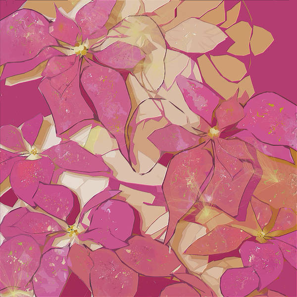 Digital Art - Pink Poinsettias by Gina Harrison