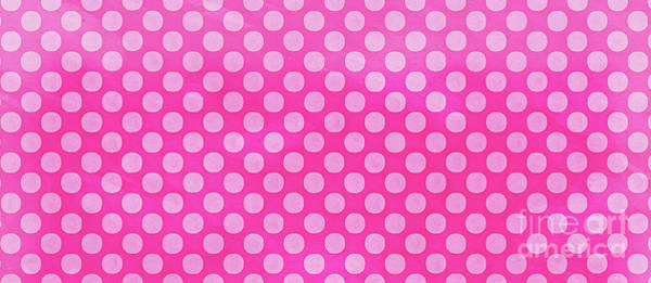 Wall Art - Painting - Pink Polka Dots Pattern Mug by Edward Fielding