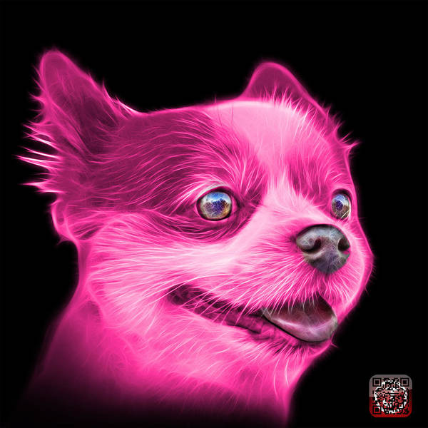Painting - Pink Pomeranian Dog Art 4584 - Bb by James Ahn