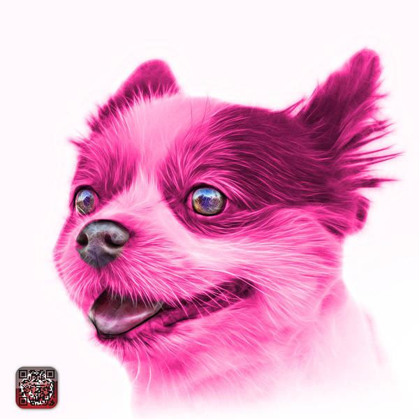 Painting - Pink Pomeranian Dog Art 4584 - Wb by James Ahn