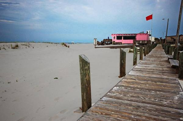 Photograph - Pink Pony And Boardwalk by Michael Thomas