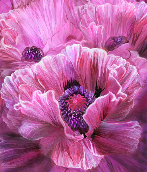 Mixed Media - Pink Poppy Splash by Carol Cavalaris