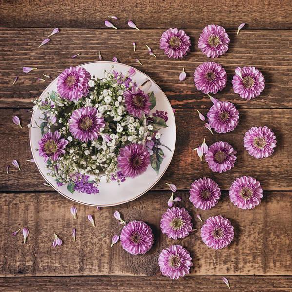 Photograph - Pink Posies Still Life by Kim Hojnacki