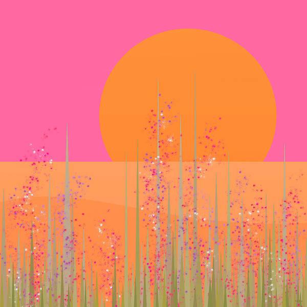 Digital Art - Pink Prairie Flowers by Val Arie