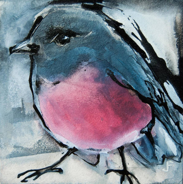 Painting - Pink Robin by Jani Freimann