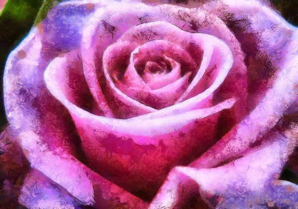 Digital Art - Pink Rose by Charmaine Zoe