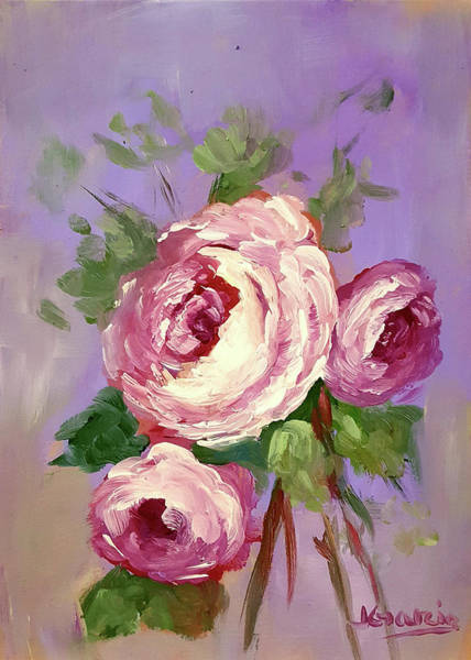 Painting - Pink Rose by Janet Garcia