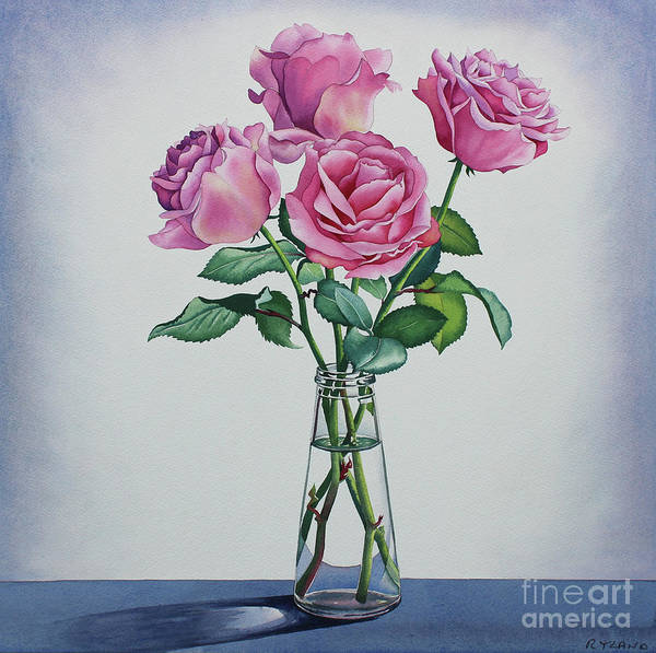 Wall Art - Painting - Pink Roses by Christopher Ryland