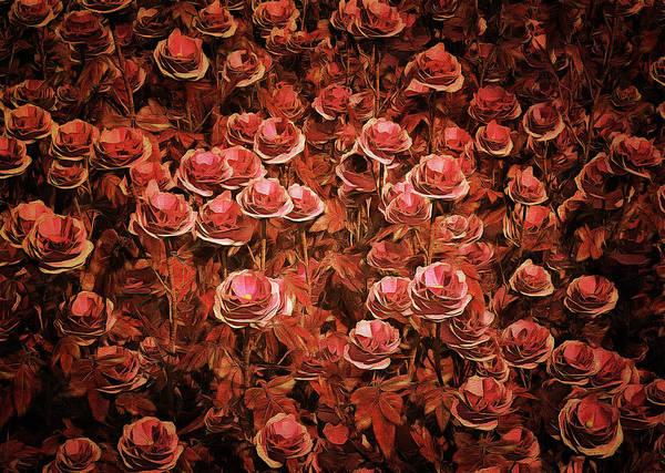 Painting - Pink Roses by Jan Keteleer