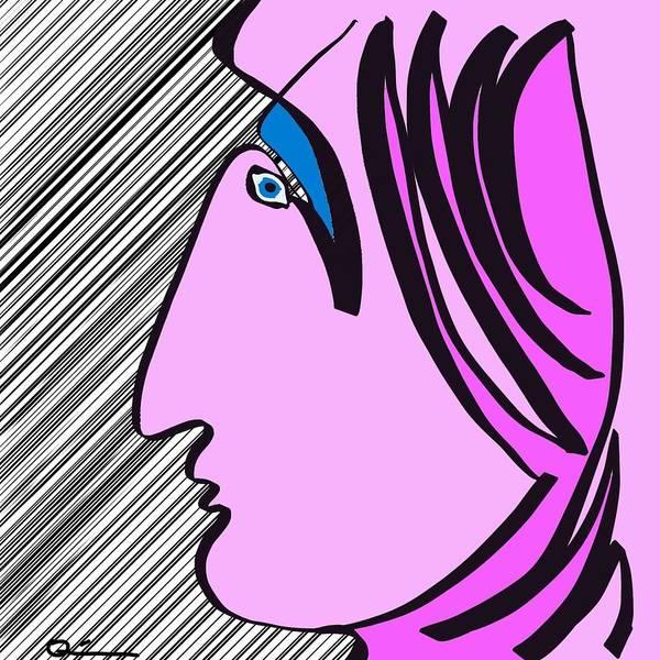 Pink Scarf Art Print
