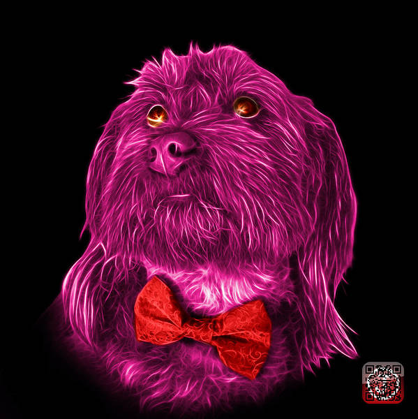Painting - Pink Schnoodle Pop Art 3687 - Bb by James Ahn