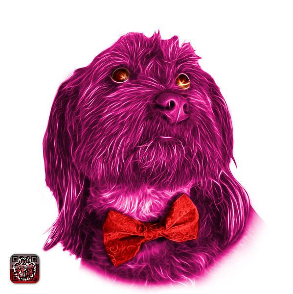 Painting - Pink Schnoodle Pop Art - 3687 by James Ahn