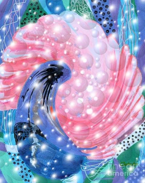 Digital Art - Pink Shell Fantasia by Jean Clarke