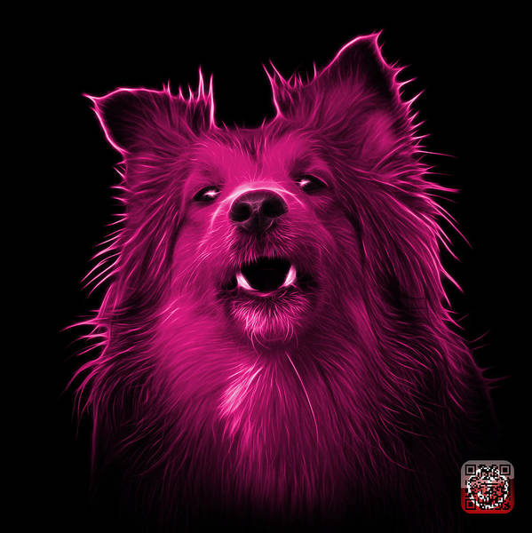 Painting - Pink Sheltie Dog Art 0207 - Bb by James Ahn
