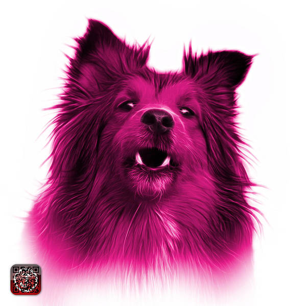 Painting - Pink Sheltie Dog Art 0207 - Wb by James Ahn